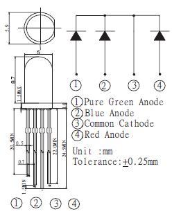 4端子カラーLED